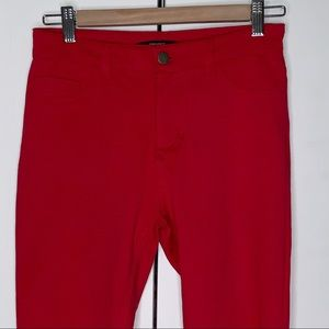 Forever 21 Size M Red Stretch Skinny  Pants